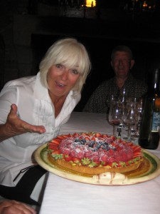 The seasonal berry tart.....lovely