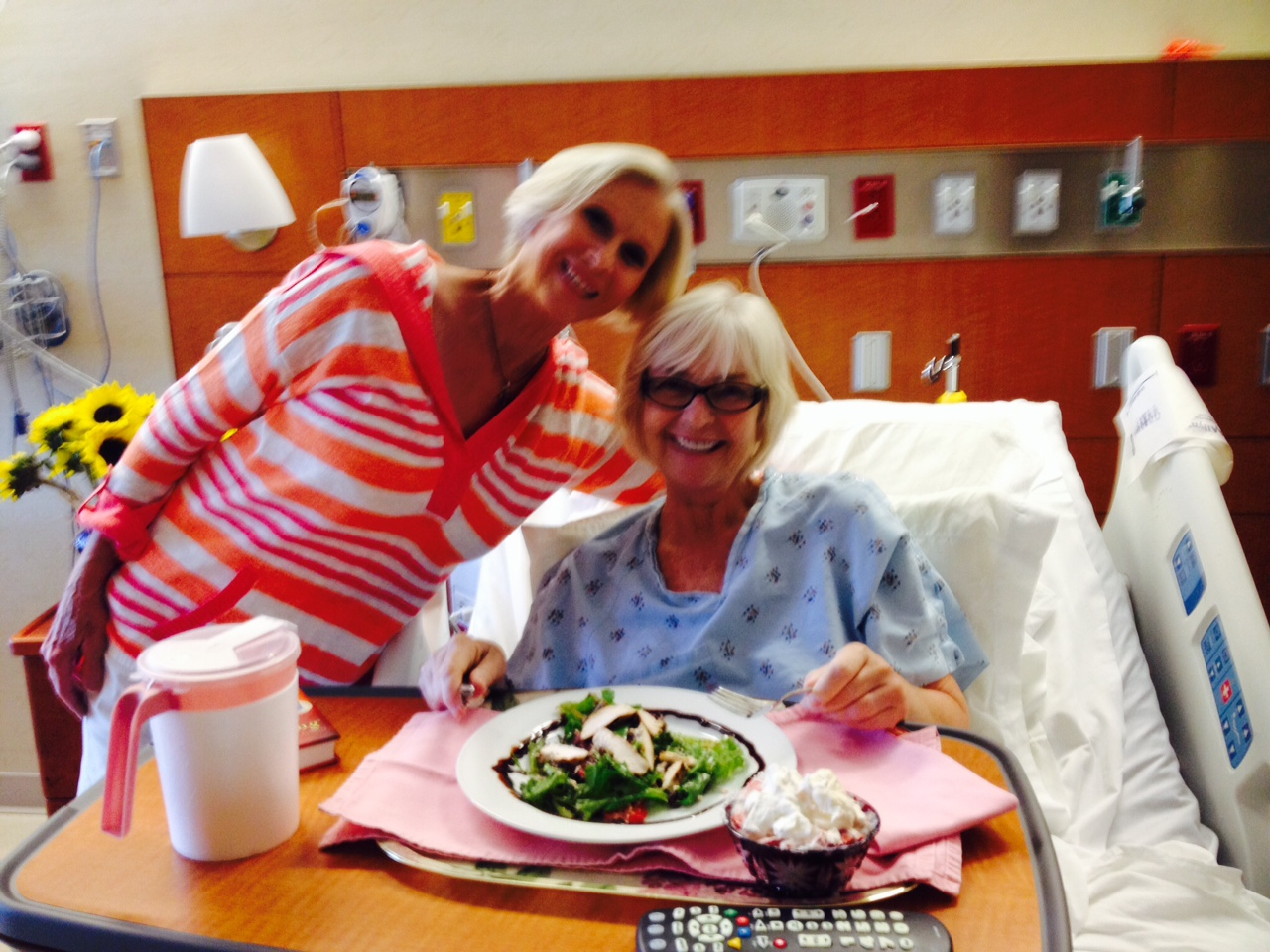 My dear friend Lynda Masulli lovingly prepared and delivered meals that adhered to my strict diet.