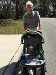Out for a spring stroll, Grandpa and Jude. Click on the video below...