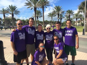 The D'Errico's turn out in full support of Jude's Dude's Purple Stride 2016